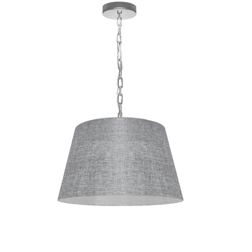Dainolite Lighting  BRY-S-PC-2423 1 Light Brynn Small Pendant, Grey/Clear Shade, Polished Chrome