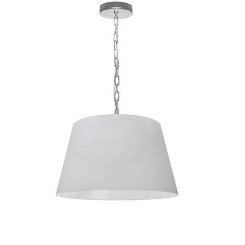 Dainolite Lighting  BRY-S-PC-790 1 Light Brynn Small Pendant, White Shade, Polished Chrome