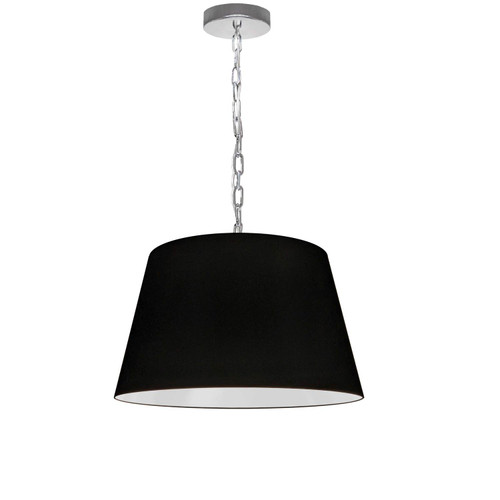 Dainolite Lighting  BRY-S-PC-797 1 Light Brynn Small Pendant, Black Shade, Polished Chrome