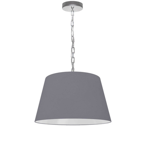 Dainolite Lighting  BRY-S-PC-835 1 Light Brynn Small Pendant, Grey Shade, Polished Chrome
