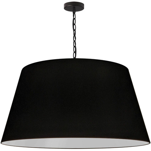 Dainolite Lighting  BRY-XL-BK-797 1 Light Brynn Extra Large Pendant, Black Shade, Black