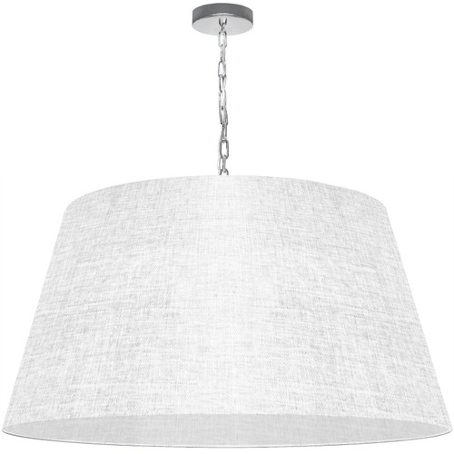 Dainolite Lighting  BRY-XL-PC-2400 1 Light Brynn X-Large Pendant, White/Clear Shade, Polished Chrome