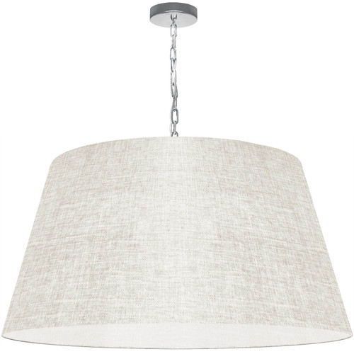 Dainolite Lighting  BRY-XL-PC-2405 1 Light Brynn X-Large Pendant, Cream/Clear Shade, Polished Chrome