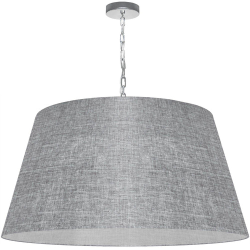 Dainolite Lighting  BRY-XL-PC-2423 1 Light Brynn X-Large Pendant, Grey/Clear Shade, Polished Chrome