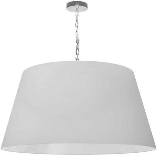 Dainolite Lighting  BRY-XL-PC-790 1 Light Brynn X-Large Pendant, White Shade, Polished Chrome