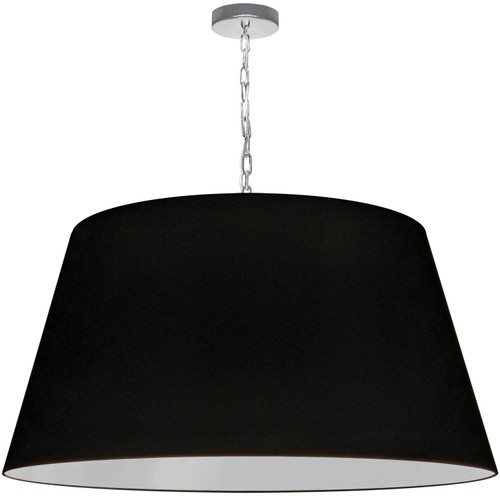 Dainolite Lighting  BRY-XL-PC-797 1 Light Brynn X-Large Pendant, Black Shade, Polished Chrome