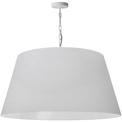 Dainolite Lighting  BRY-XL-WH-790 1 Light Brynn Extra Large Pendant, White Shade, White