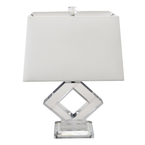 Dainolite Lighting  C506T-PC 1 Light Table Lamp, Polished Chrome Finish