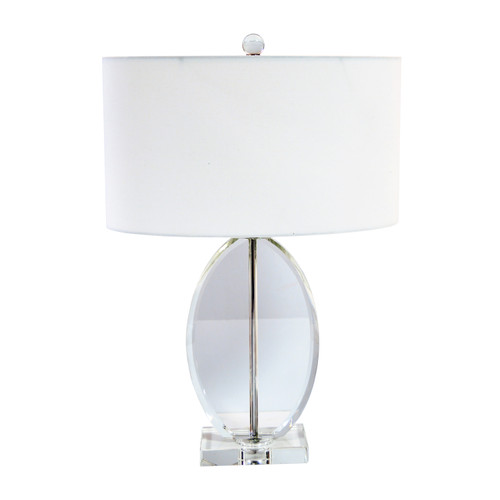 Dainolite Lighting  C515T-PC 1 Light Table Lamp, Polished Chrome Finish, White Oval Shade