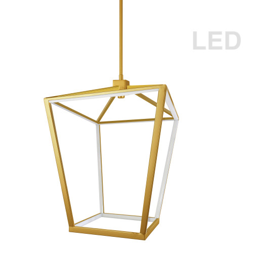 Dainolite Lighting  CAG-2046C-AGB 46W Pendant, Aged Brass with White Diffuser