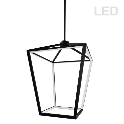 Dainolite Lighting  CAG-2046C-MB 46W Pendant, Matte Black with White Diffuser
