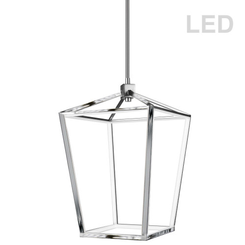 Dainolite Lighting  CAG-2046C-PC 46W Pendant, Polished Chrome with White Diffuser