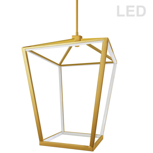Dainolite Lighting  CAG-2664C-AGB 64W Pendant, Aged Brass with White Diffuser