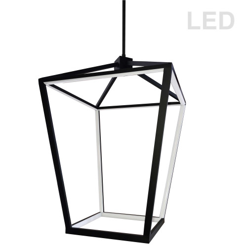 Dainolite Lighting  CAG-2664C-MB 64W Pendant, Matte Black with White Diffuser