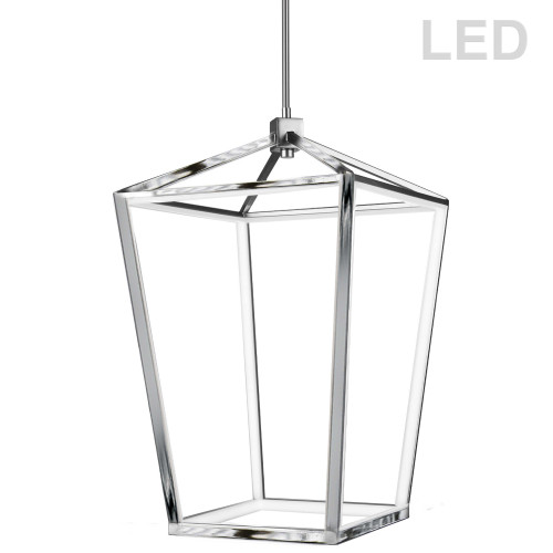 Dainolite Lighting  CAG-2664C-PC 64W Pendant, Polished Chrome with White Diffuser