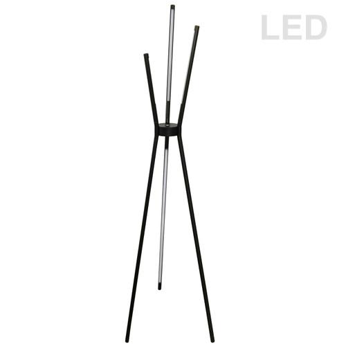 Dainolite Lighting  CER-3LEDF-BK 30W LED Floor Lamp, Black Finish