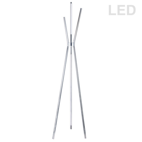 Dainolite Lighting  CER-3LEDF-PC 30W LED Floor Lamp, Polished Chrome Finish
