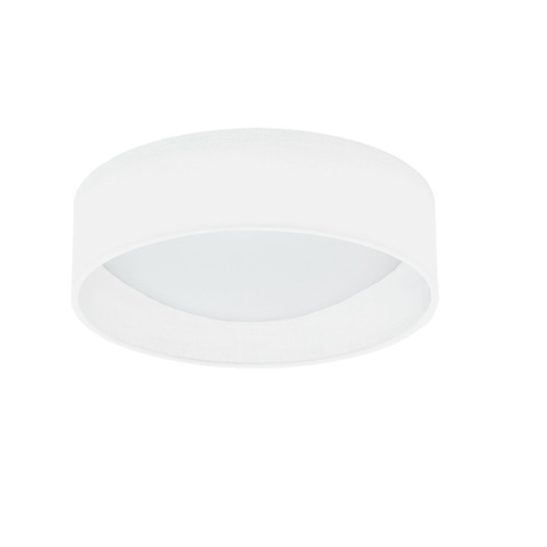Dainolite Lighting  CFLD-1114-198F LED Flush Mount, Satin Chrome Finish, Eggshell Shade