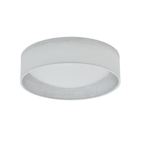 Dainolite Lighting  CFLD-1114-2400 LED Flush Mount, Satin Chrome Finish, White Shade
