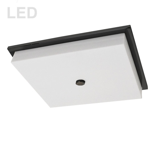 Dainolite Lighting  CFLED-1107-MB 19W LED Flush Mount, Matte Black with White Acrylic Diffuser