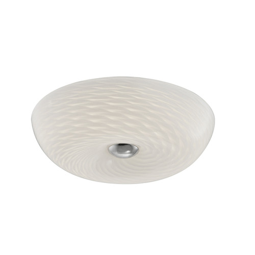 Dainolite Lighting  CFLED-1512-SC LED Flush Mount with Mackerel Glass