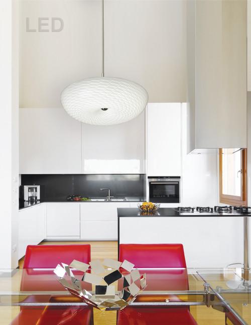 Dainolite Lighting  CFLED-1516-SC LED Flush Mount with Mackerel Glass