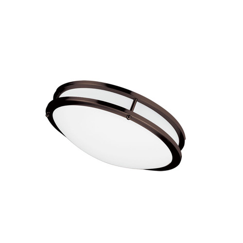 Dainolite Lighting  CFLED-C1218-BZ Dimmable LED Ceiling Flush Mount, Bronze Finish