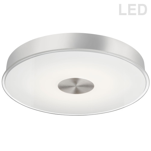 Dainolite Lighting  CFLED-C1529-SC 29W LED Flush Mount Satin Chrome Finish Frosted with Clear Edge Glass