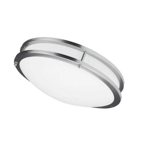 Dainolite Lighting  CFLED-C1626-SC LED Ceiling Flush, 16? dia, Satin Chrome Finish