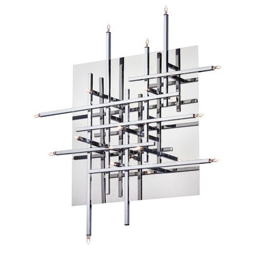 Dainolite Lighting  CG8616FH-PC 16 Light Flush Mount Fixture, Polished Chrome, Low Voltage