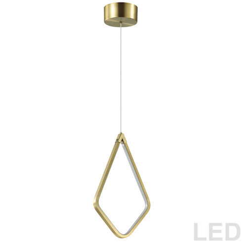 Dainolite Lighting  CHM-1517LEDP-AGB 17W LED Pendant Aged Brass Finish