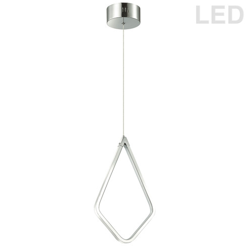 Dainolite Lighting  CHM-1517LEDP-PC 17W LED Pendant Matte Black Finish