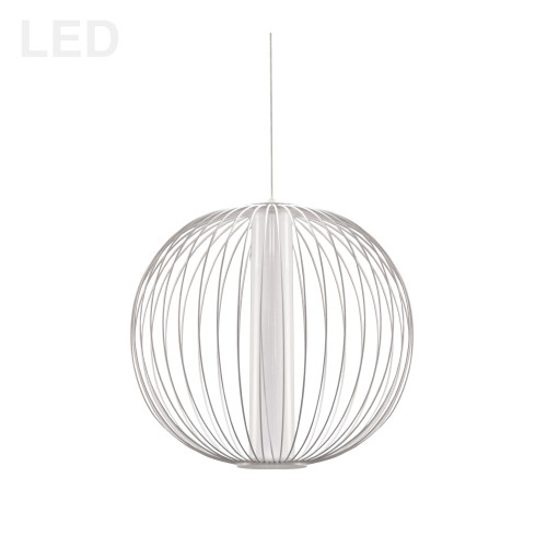 Dainolite Lighting  CHR-161LEDP-MW 20W LED Pendant, Matte White with White Acrylic Diffuser