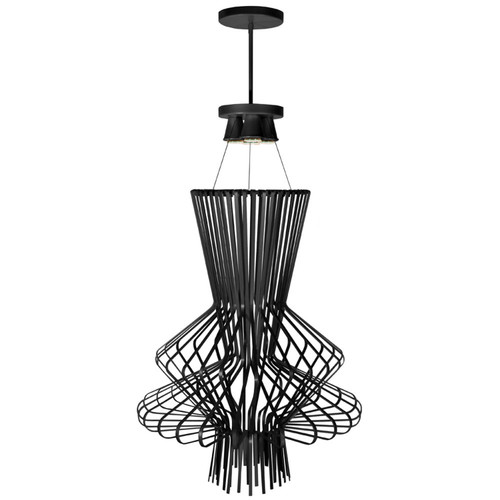Dainolite Lighting  CMP2-254LP-BK 4 Light Wire Chime Pendant, Painted Black Semi-Gloss