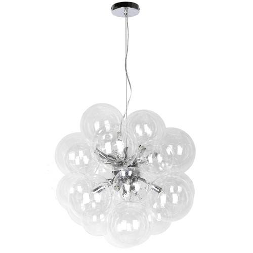 Dainolite Lighting  CMT-206P-CLR-PC 6 Light Halogen Pendant Polished Chrome Finish with Clear Glass