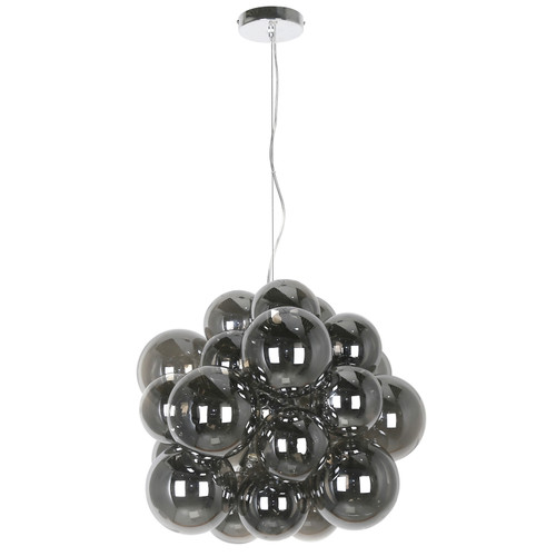 Dainolite Lighting  CMT-206P-SM-PC 6 Light Halogen Pendant Polished Chrome Finish with Smoked Glass