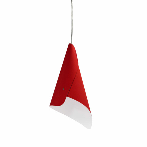 Dainolite Lighting  CON-1P-RD 1 Light Cone Pendant JTones Red and Polished Chrome