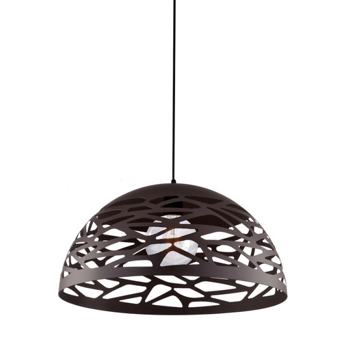 Dainolite Lighting  COR-161P-BK 1 Light Pendant, Matte Black Finish
