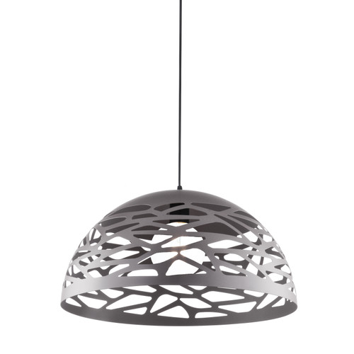 Dainolite Lighting  COR-161P-MN 1 Light Pendant, Millstone Finish