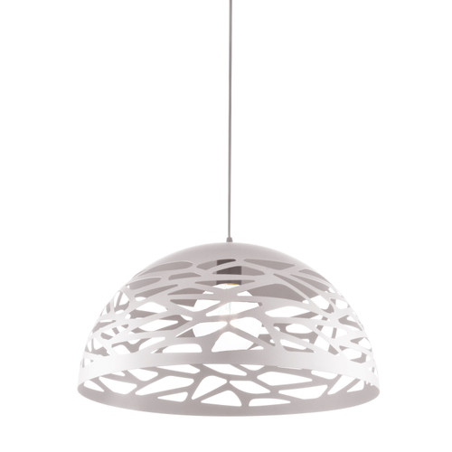 Dainolite Lighting  COR-161P-WH 1 Light Pendant, Matte White Finish