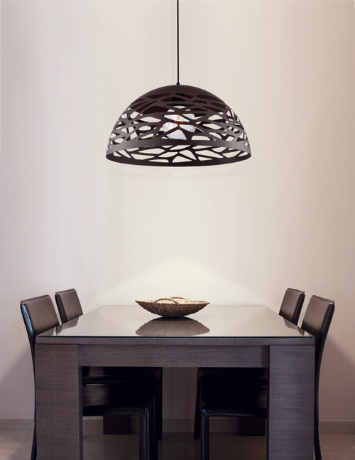 Dainolite Lighting  COR-201P-BK 1 Light Pendant, Matte Black Finish