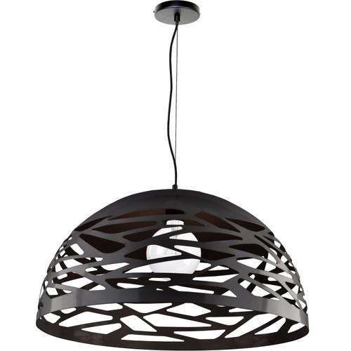 Dainolite Lighting  COR-201P-BK 1 Light Pendant, Matte Black Finish