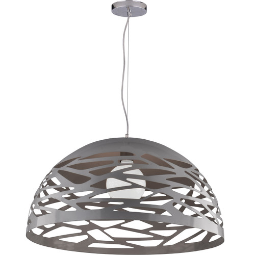 Dainolite Lighting  COR-201P-MN 1 Light Pendant, Millstone Finish