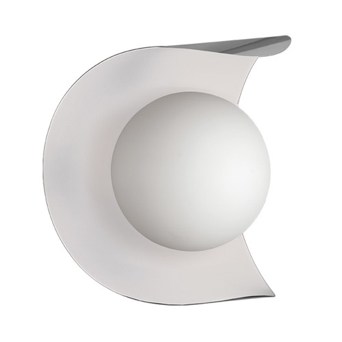 Dainolite Lighting  CRT-61W-SC-MW 1 Light Wall Sconce Satin Chrome and Matte White Finish