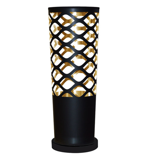 Dainolite Lighting  CUT-T-698 1 Light Cut Out Table Lamp, Black Base