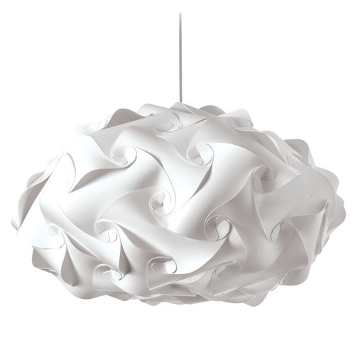 Dainolite Lighting  DBL-FLT-790 3 Light Pendant, Polished Chrome Finish, White Fabric
