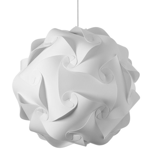 Dainolite Lighting  DBL-L-790 3 Light Pendant, Polished Chrome Finish, White Fabric