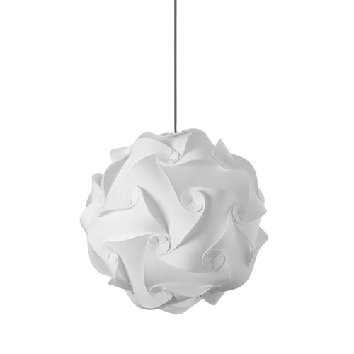 Dainolite Lighting  DBL-M-790 1 Light Pendant, Polished Chrome Finish, White Fabric