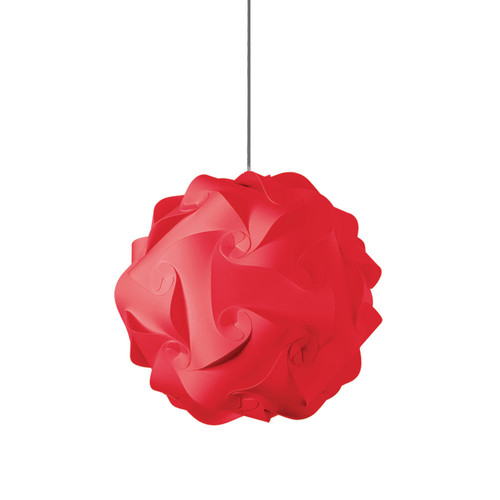 Dainolite Lighting  DBL-M-795 1 Light Pendant, Polished Chrome Finish, Red Fabric