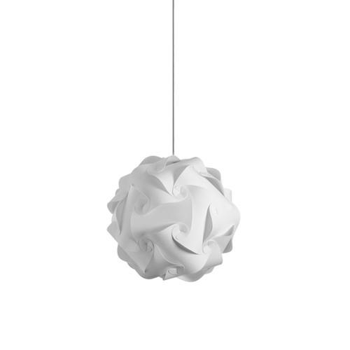 Dainolite Lighting  DBL-S-790 1 Light Pendant, Polished Chrome Finish, White Fabric